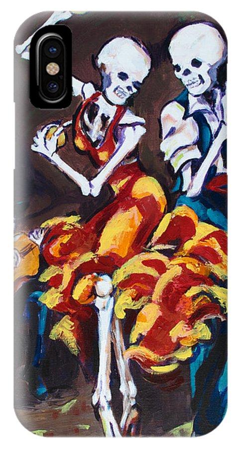 Dia De Los Muertos IPhone X Case featuring the painting Flamenco Dancers II by Sharon Sieben