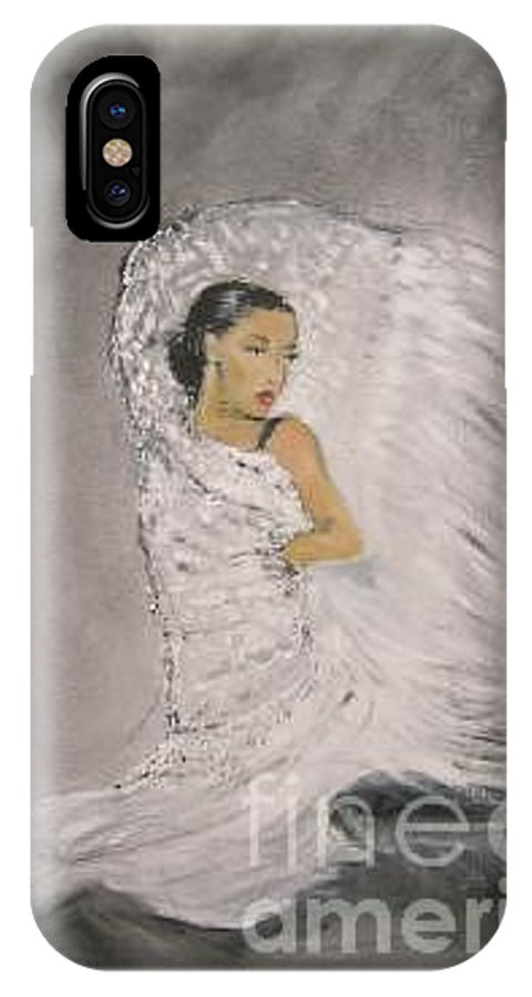 Spain IPhone X Case featuring the painting Flamenco by Lizzy Forrester