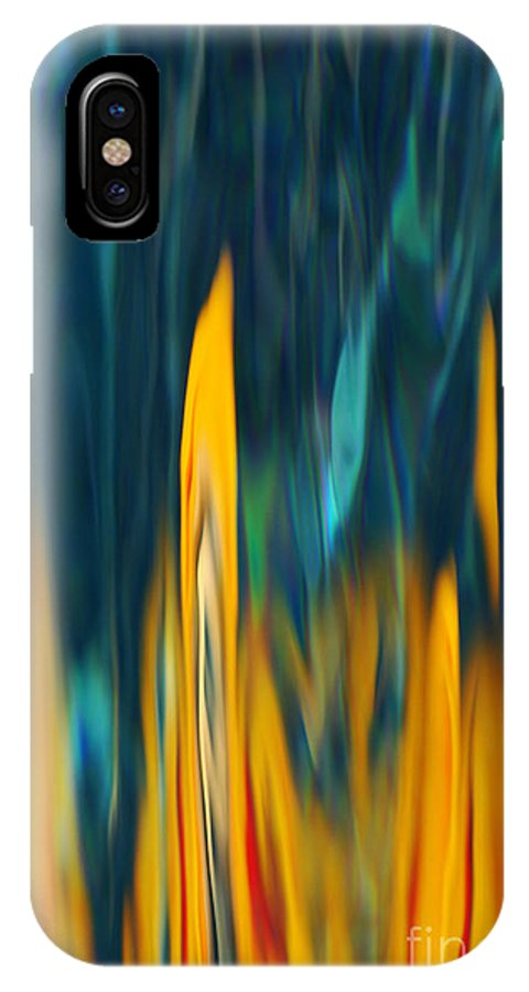 Water IPhone X Case featuring the photograph Flames by Aimelle