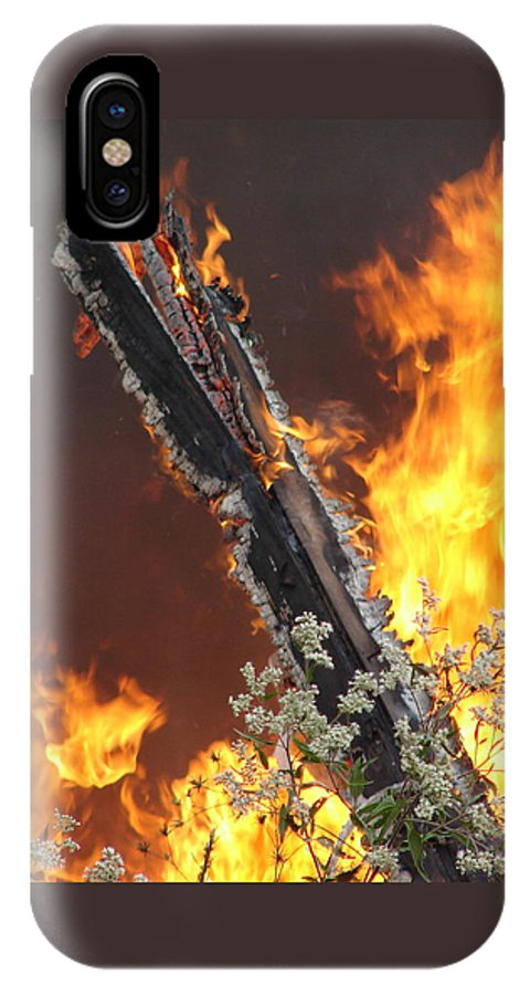 Fire Wood Flames Flowers IPhone Case featuring the photograph Flames Of Age by Luciana Seymour