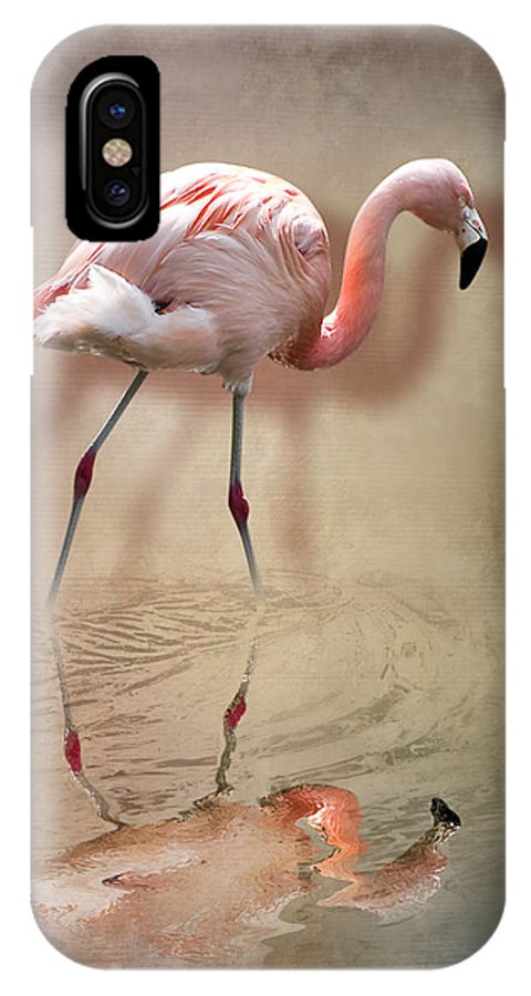3d IPhone X Case featuring the photograph Flamingo by Svetlana Sewell