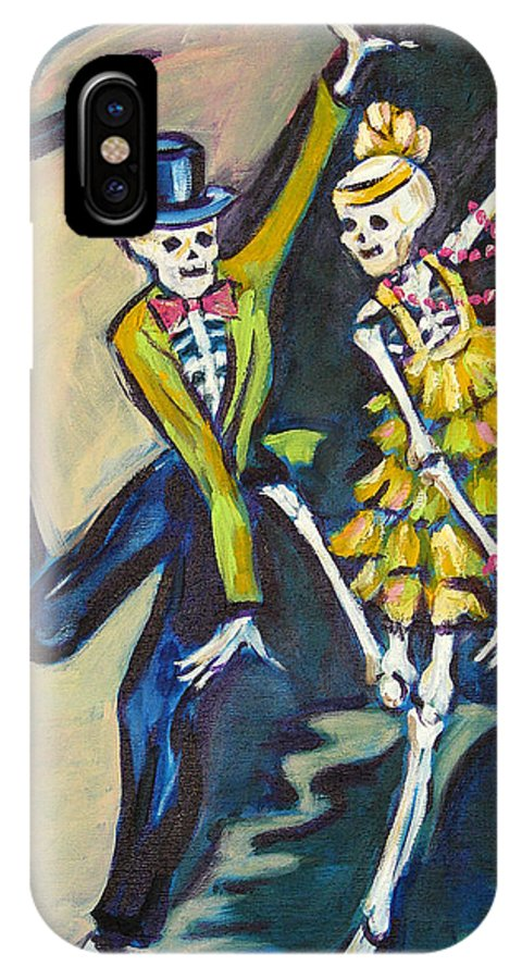 Dance IPhone X Case featuring the painting Flappers by Sharon Sieben