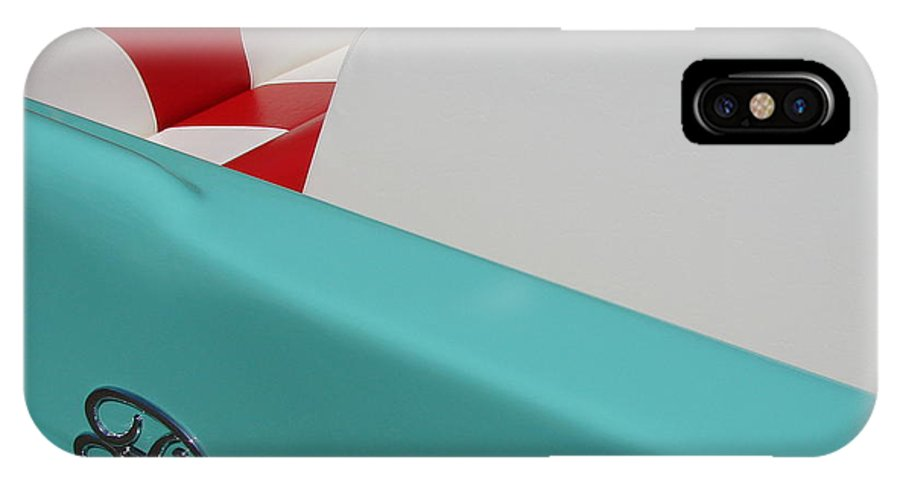 Boat IPhone X Case featuring the photograph Fleetform Powerboat Ll by Michelle Calkins