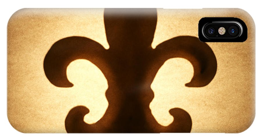 Silhouette IPhone X Case featuring the photograph Fleur-de-lis by Tony Cordoza