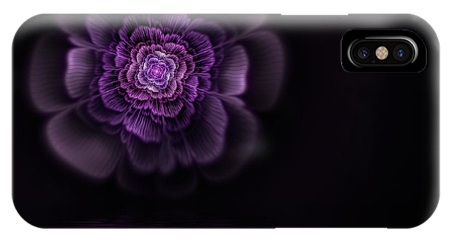 Flame Fractal IPhone X Case featuring the digital art Fleur by John Edwards
