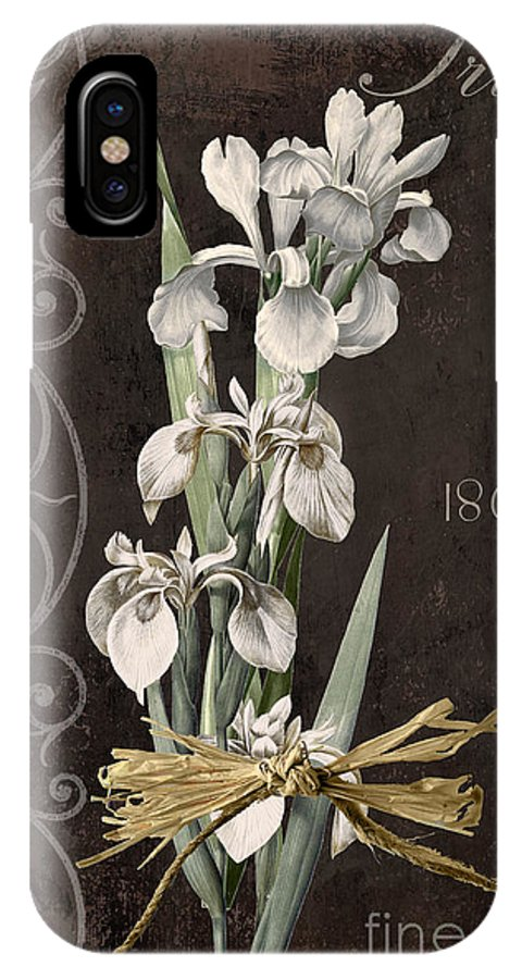 Iris IPhone X Case featuring the painting Fleurs De Paris II by Mindy Sommers