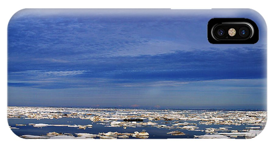 Alaska IPhone X Case featuring the digital art Floating Ice by Anthony Jones