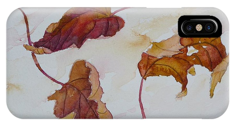 Fall IPhone Case featuring the painting Floating by Ruth Kamenev
