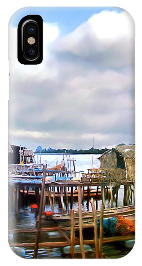 Village IPhone X Case featuring the photograph Floating Village Thailand by Kurt Van Wagner