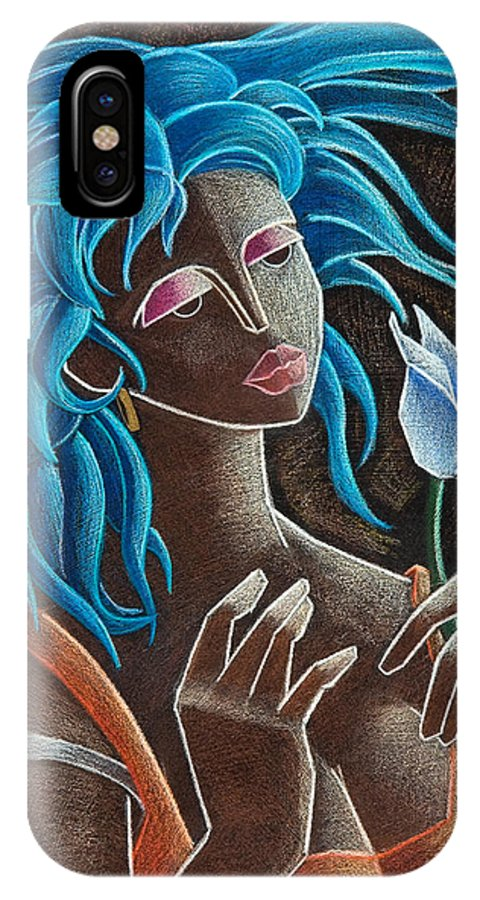 Puerto Rico IPhone X / XS Case featuring the painting Flor Y Viento by Oscar Ortiz