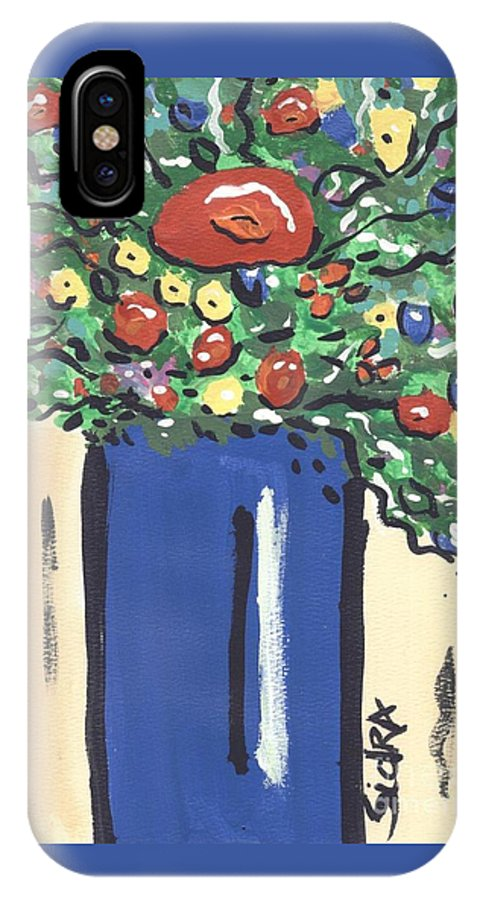 Floral IPhone Case featuring the painting Floral 280 by Sidra Myers