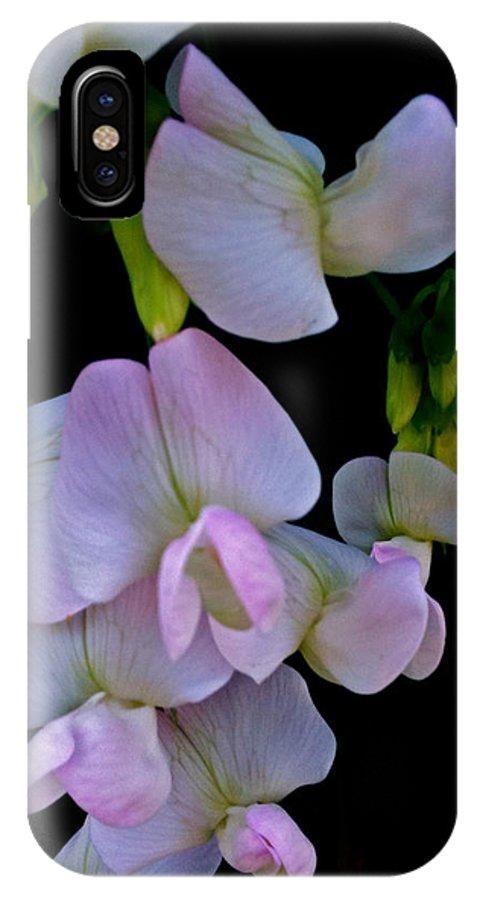 Floral Cascade IPhone X Case featuring the photograph Floral Cascade by Debra   Vatalaro