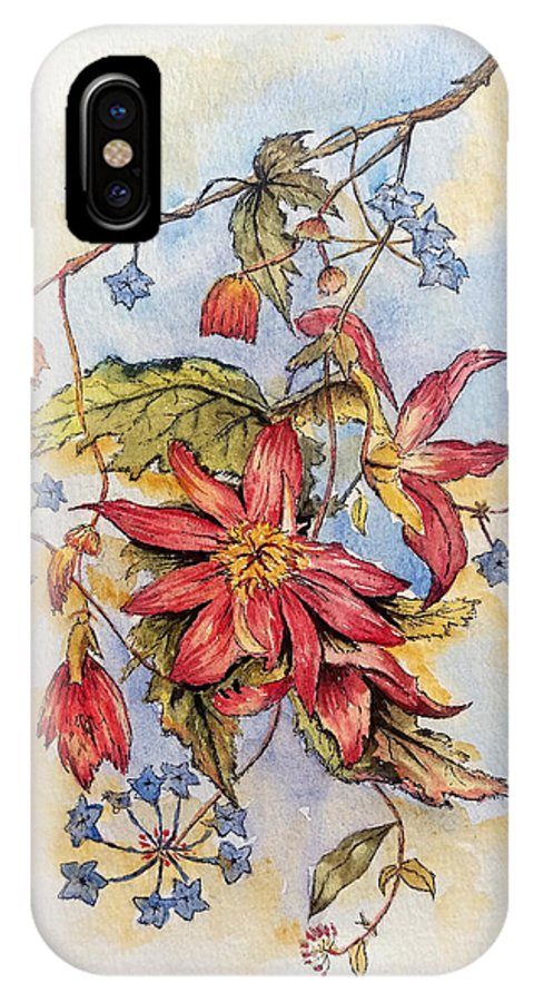 Flowers IPhone X Case featuring the painting Floral Display 1 by Andrew Read