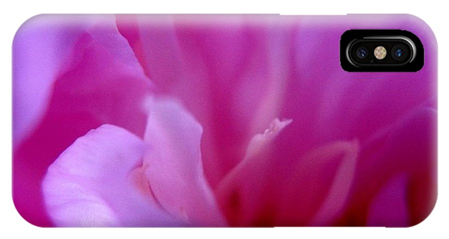 Pink IPhone X Case featuring the photograph Floral Fantasy 4 by Rhonda Barrett