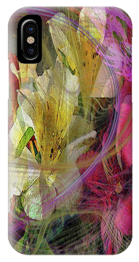 Floral Inspiration IPhone X Case featuring the digital art Floral Inspiration by John Beck