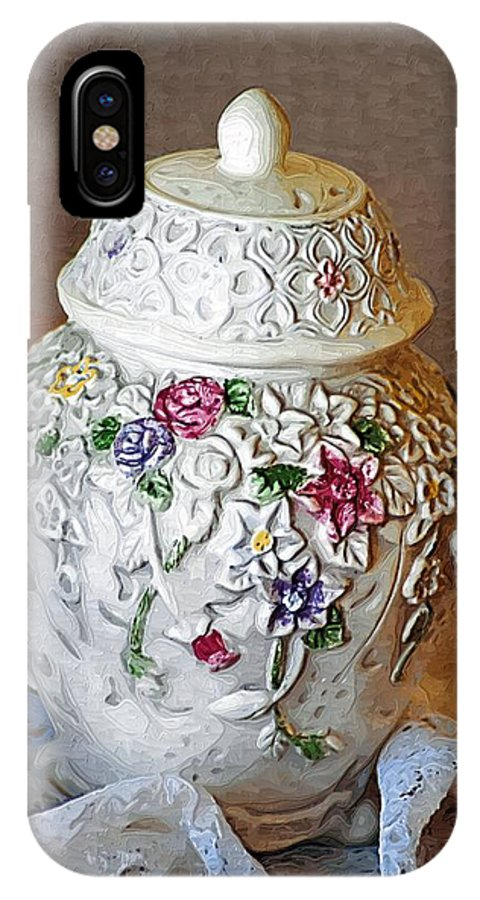 Jar IPhone X Case featuring the photograph Floral Jar by Donna Bentley