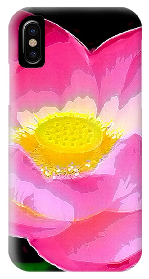 Flowers IPhone X Case featuring the drawing Floral by Philip Gresham