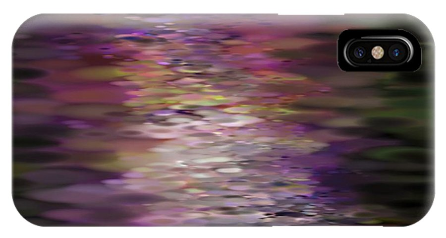 Floral IPhone X Case featuring the painting Floral Reflections by Sandra Bauser Digital Art