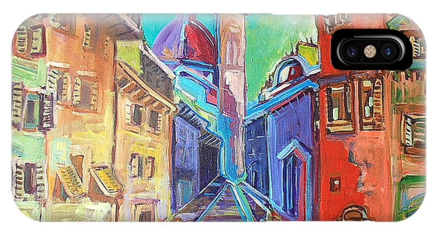 City IPhone Case featuring the painting Florence by Kurt Hausmann