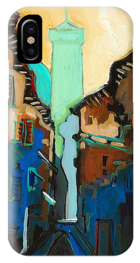 Florence IPhone Case featuring the painting Florence Street Study by Kurt Hausmann