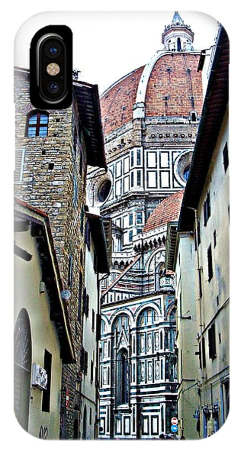Florence Italy IPhone X Case featuring the photograph Florence Street by Tisha Clinkenbeard