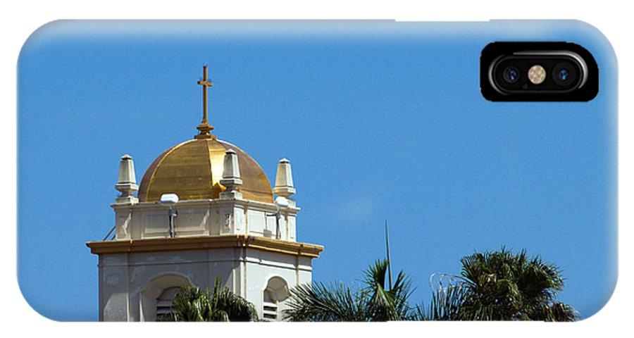 Lake IPhone X Case featuring the photograph Florida Church by Allan Hughes