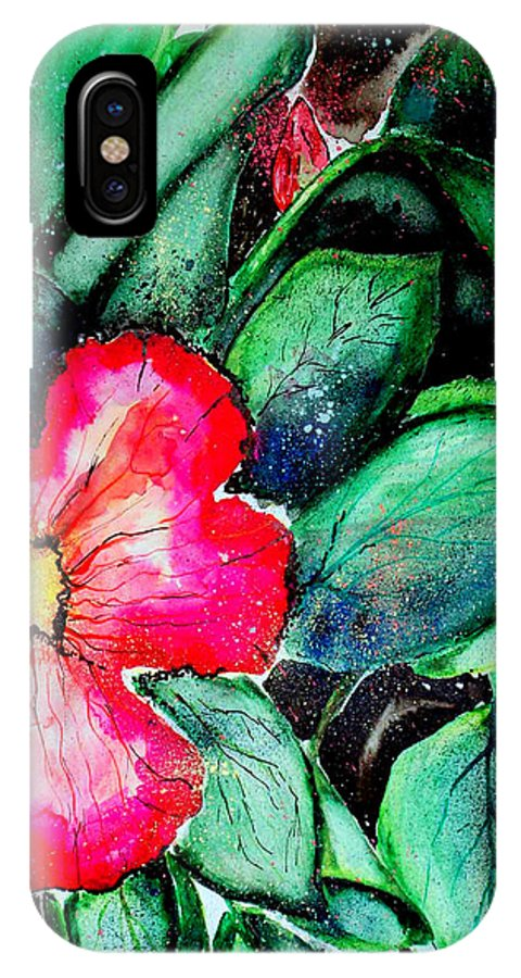 Exotic IPhone X Case featuring the photograph Florida Flower by Margaret Fortunato