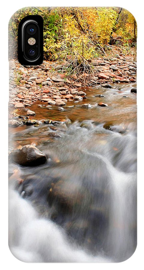 Sedona IPhone X Case featuring the photograph Flow in Sedona by Kristin Elmquist
