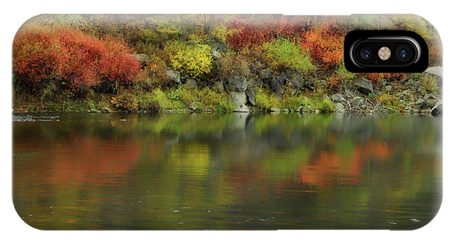 River IPhone X Case featuring the photograph Flow Of Autumn by Donna Blackhall