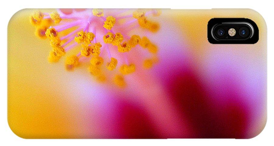 Flower IPhone X Case featuring the photograph Flower - Stamen 2 by Jill Reger