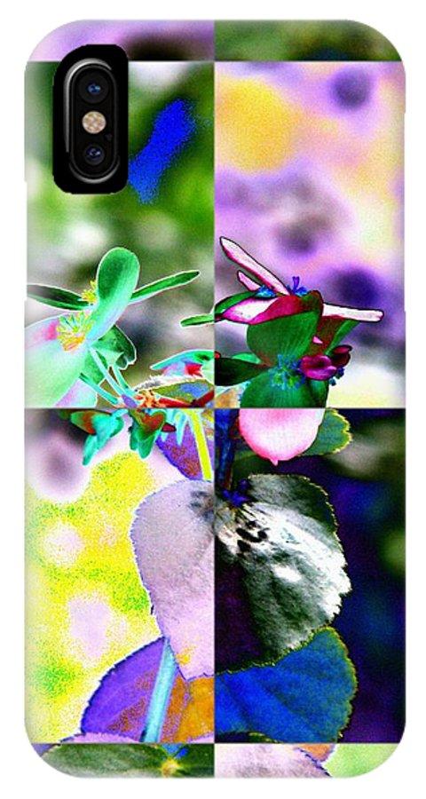 Flower IPhone X Case featuring the digital art Flower 2 by Tim Allen