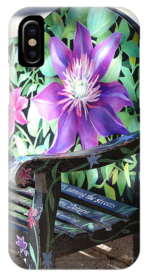 Macro IPhone X Case featuring the photograph Flower Bench by Rob Hans
