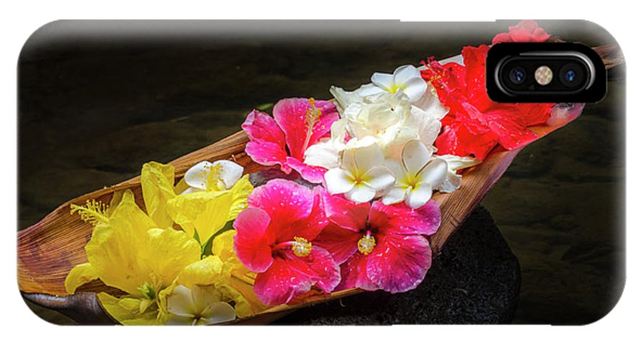 Flowers IPhone X Case featuring the photograph Flower Boat by Daniel Murphy