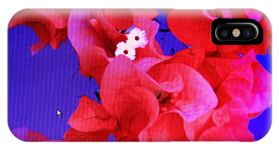 Red IPhone X Case featuring the photograph Flower Fantasy by Ian MacDonald