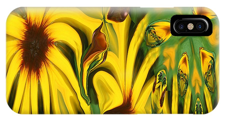 Abstract IPhone Case featuring the photograph Flower Fun by Linda Sannuti
