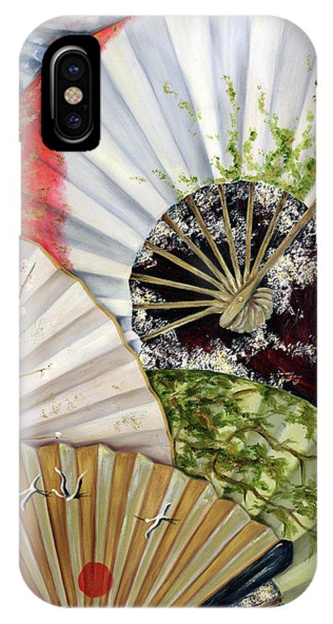 Japanese IPhone Case featuring the painting Flower Garden by Hiroko Sakai