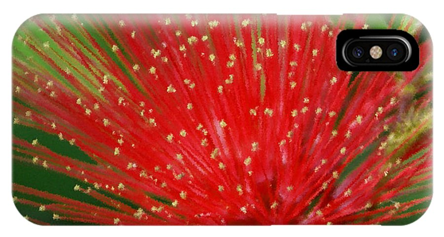 Flowers IPhone X Case featuring the photograph Flower Optics 3 by Debbie May