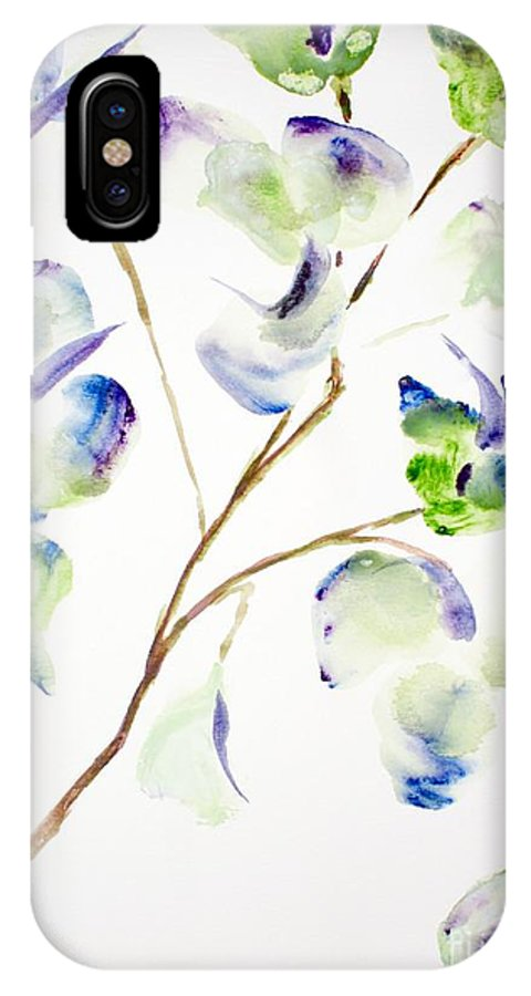 Flower IPhone X Case featuring the painting Flower by Shelley Jones