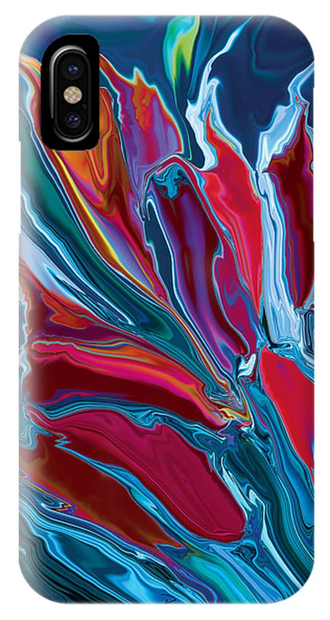 Botanical IPhone X Case featuring the digital art Flower Unknown 3 by Rabi Khan