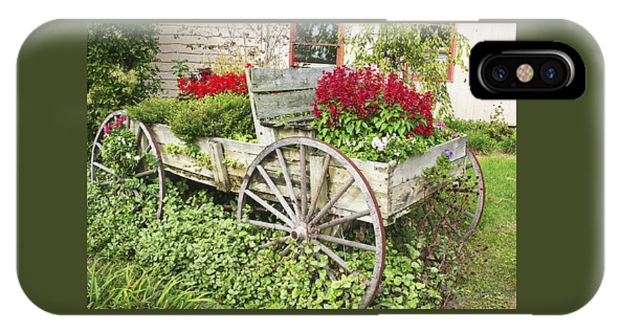 Wagon IPhone X Case featuring the photograph Flower Wagon by Margie Wildblood