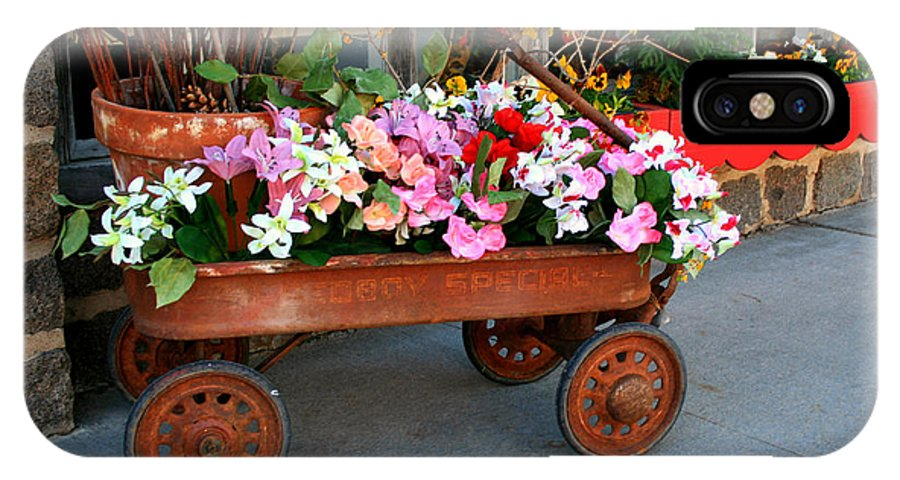 Wagon IPhone X Case featuring the photograph Flower Wagon by Perry Webster