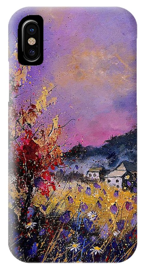 IPhone X Case featuring the painting Flowered Landscape 569070 by Pol Ledent