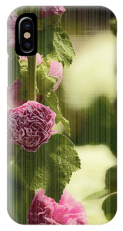 Flowers IPhone X Case featuring the photograph Flowers Behind The Screen by Melvin Busch