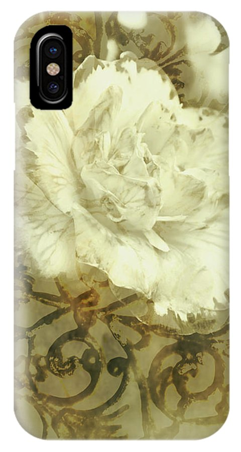 Flower IPhone X Case featuring the photograph Flowers By The Window by Jorgo Photography - Wall Art Gallery