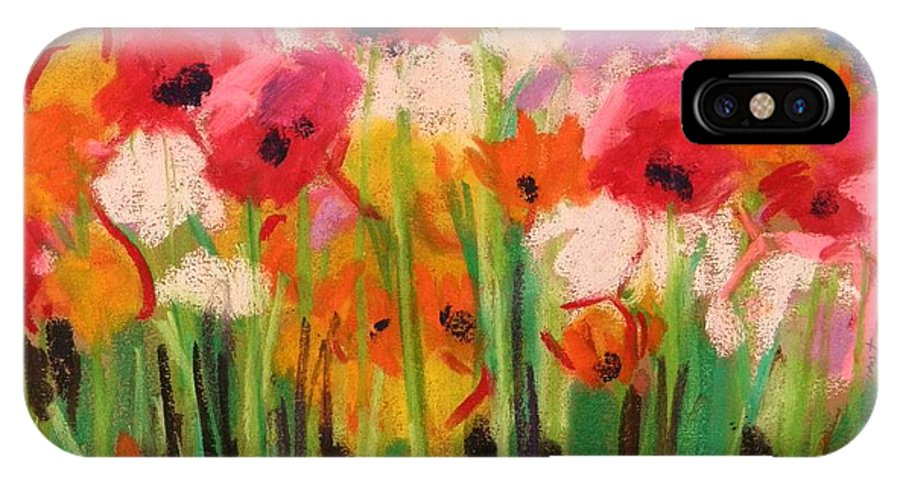 Flowers IPhone X / XS Case featuring the painting Flowers by John Williams