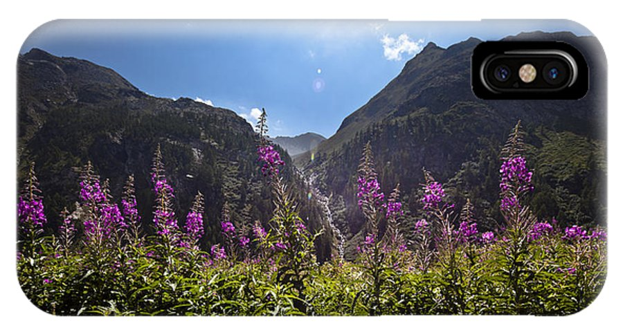 Montagna IPhone X Case featuring the photograph Flowers Line by Marco Missiaja