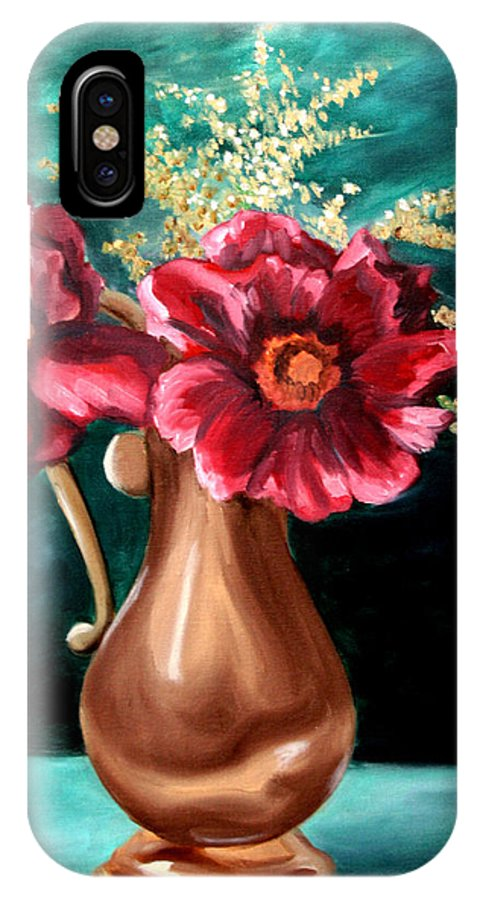 Flower IPhone X Case featuring the painting Flowers by Maryn Crawford