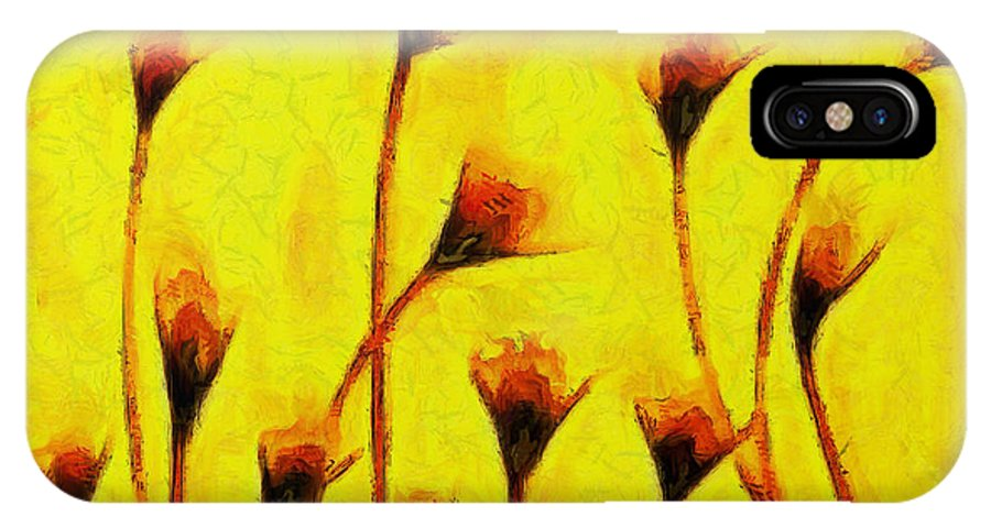 Flowers Of Love IPhone X Case featuring the painting Flowers Of Love - Van Gogh - - Pa by Leonardo Digenio