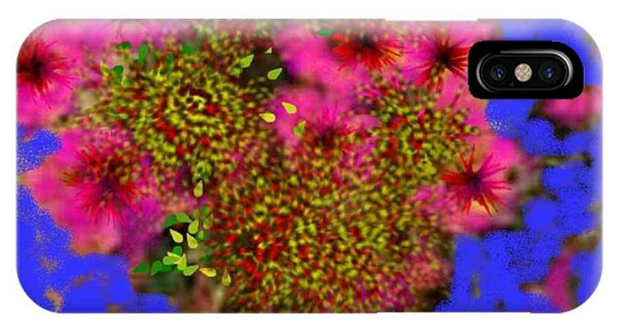 Flowers IPhone X Case featuring the digital art Flowers On The Table by Dr Loifer Vladimir