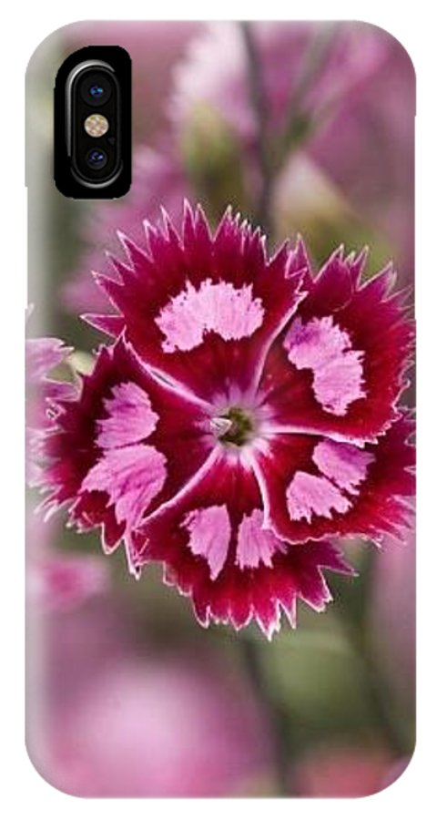 Flowers Pink Purple Decorative 0x40 IPhone X Case featuring the digital art Flowers Pink Purple Decorative 4671 300x480 by Mery Moon